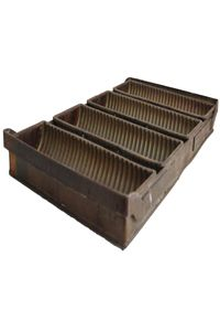 Vintage Industrial Loaf Pan-Ribbed I have one similar to this!  <3