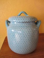Decorative Bean Pot--handmade from Michoacán. Beautiful for serving beans and soups. And yes, you can cook with it too!