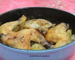 Poulet et pommes de terre en cocotte