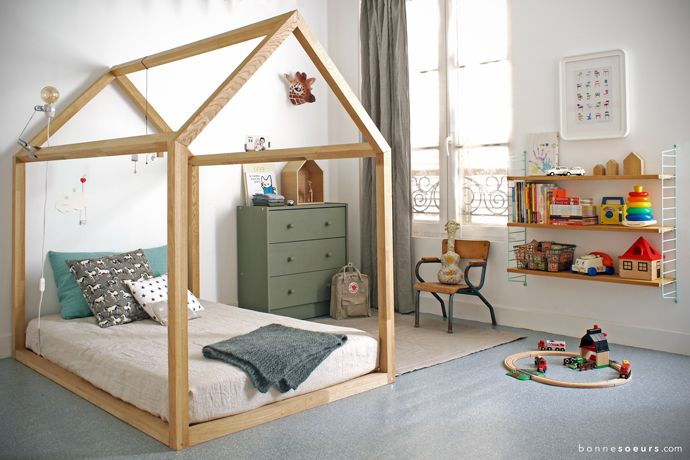 bonnesoeurs decoration lit maison 01 chambre enfant garcon etagere string soft
