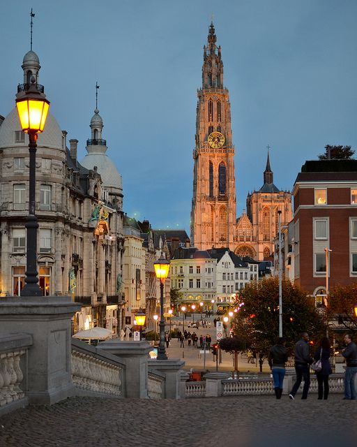 Antwerpen (Antwerp): a mixture of old architecture and ultramodern buildings meets a world-harbor