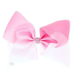 JoJo Siwa Large White & Pink Ombre Signature Hair Bow,