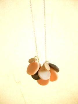 Polymer clay necklace by Riyo