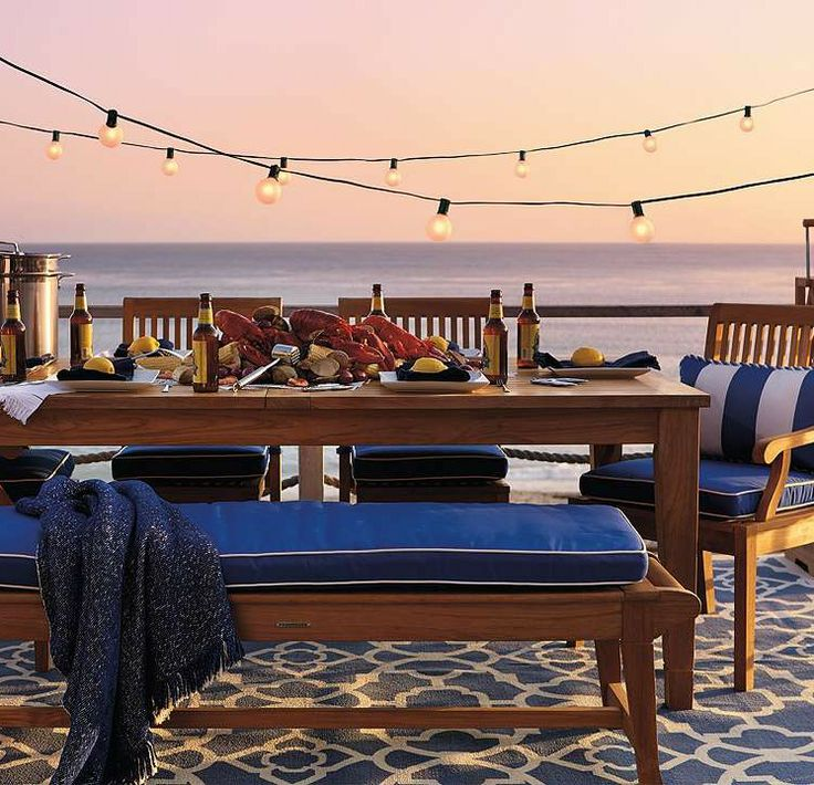 This summer, throw the best nautical inspired dinner parties.: Gifts Cards, Outdoor Living, Outdoor Furniture, Patio Furniture, Outdoor Dining Furniture, Complete Outdoor, Dining Sets, Cassara Dining, Furniture Sets