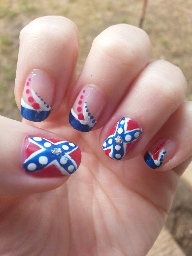206 best my nails images on pinterest my nails flowers and rebel flag nail art prinsesfo Gallery