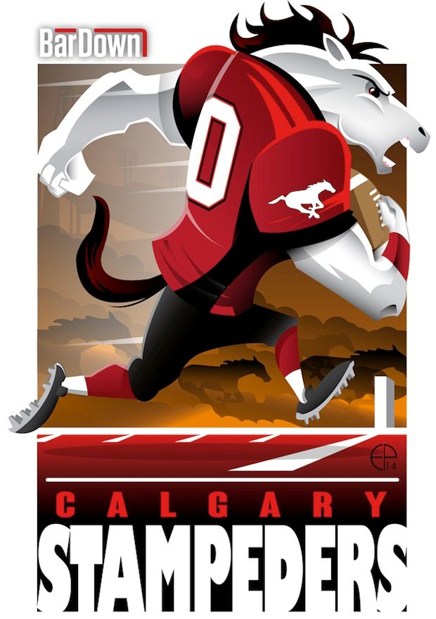 #EPoole88 (Eric Poole) is at it again, this time with the CFL. Here is his rendition for the Calgary Stampeders.