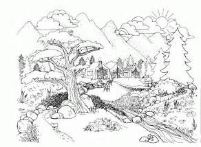 landscape coloring pages for adults coloring pages