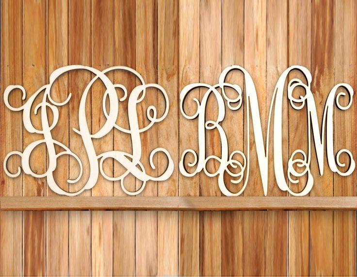 SALE! for 2 #Monograms! Unpainted #Vine Script #Home #Decor, #Wedding Decor, #Initial, #Door #Hanger, #Nursery, #Love, #Dormitory,  1101* by MonogramCustomArt on Etsy