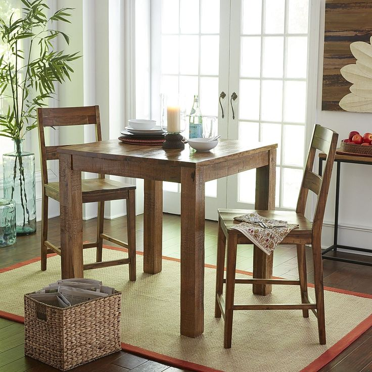 Kitchen pub table parsons counter table set java for Pier 1 dining room table