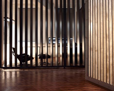 Screens Made From Wooden Slats Adding Both Privacy And