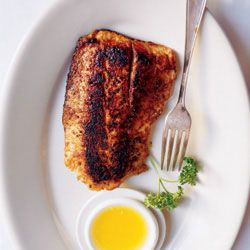 Blackened Redfish -- This recipe is based on one in Chef Paul Prudhomme's Louisiana Kitchen (Morrow Cookbooks, 1984).