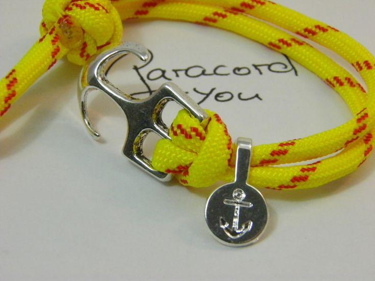 Paracord Armband-Ankerverschluß und Ankeranhänger von Paracordforyou auf DaWanda.com