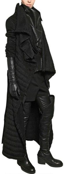 ANN DEMEULEMEESTER: Furly Wool Alpaca Coat - Lyst                                                                                                                                                     More