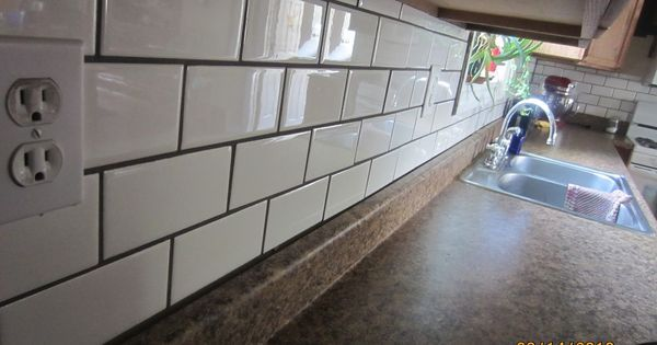 Image Result For White Subway Tiles In Kitchen With Brown Grout With Images White Subway