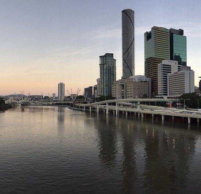 Brisbane river and city.