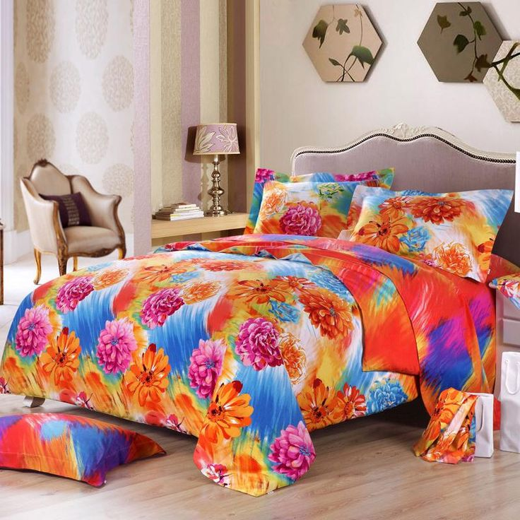 pink and orange bedding sets