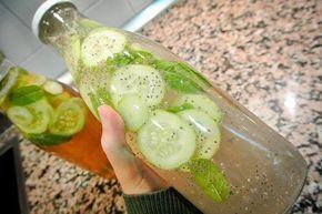 Limonade met komkommer, gember en munt - Gezonder Leven