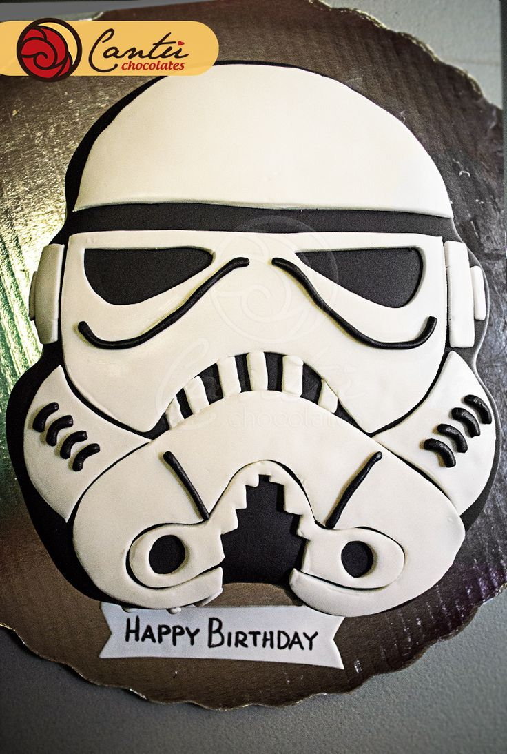 Star wars - Storm trooper cake For more cakes visit us: https://www.facebook.com/Cantu.Chocolates