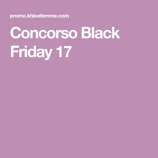 Concorso Black Friday 17
