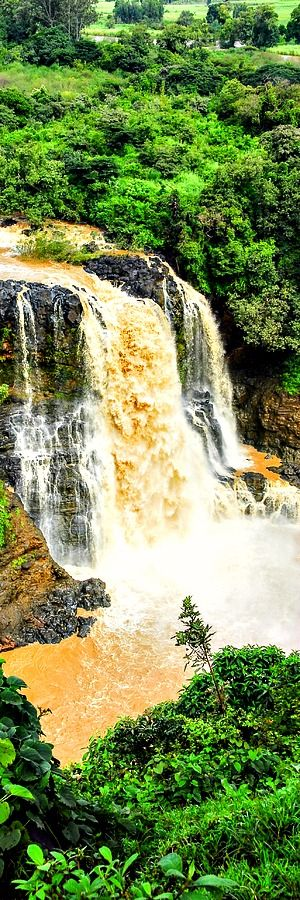 """Blue Nile Falls, Ethiopia The Blue Nile Falls is a waterfall on the Blue Nile river in Ethiopia. It is known as Tis Abay in Amharic, meaning """"great sme"""". It is situated on the upper course of the river, about 30 km downstream from the town of Bahir Dar and Lake Tana. The falls are …"""