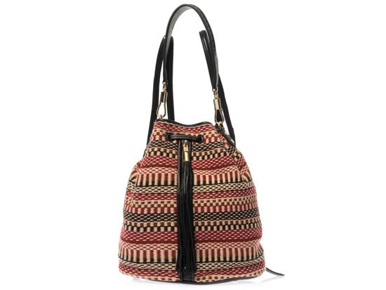 Cynnie sling woven tassel backpack, Elizabeth and James matchesfashion.com