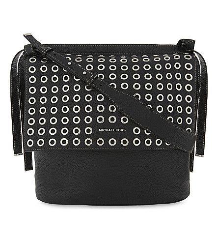 030fd93cc5 MICHAEL MICHAEL KORS Chambers Large Grained Leather Shoulder Bag.  #michaelmichaelkors #bags #shoulder bags #leather # | detail/hardware |  Leather shoulder ...