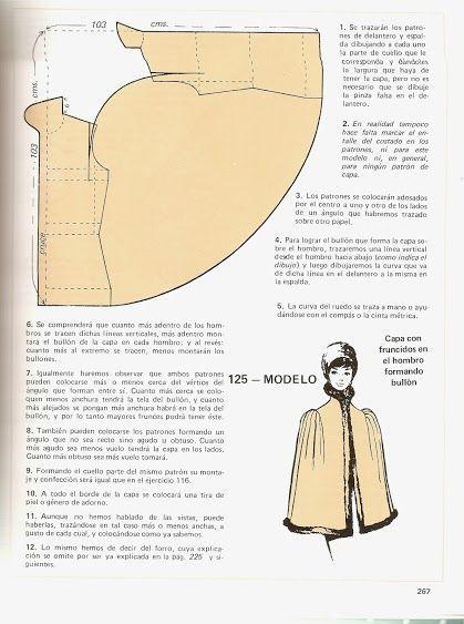 vintage pattern cape: