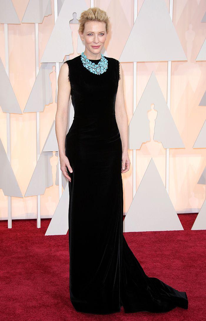 Cate Blanchett i Maison Margiela och halsband från Tiffany & Co.