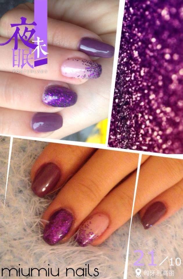 Builded Gel Nail, Purple, Shiny