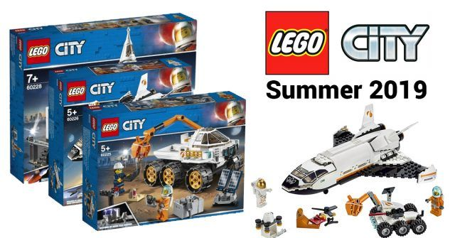 Lego City Is Going To Outer Space With 6 New Sets For Summer 2019 News Lego City Space Lego City New Lego City Sets