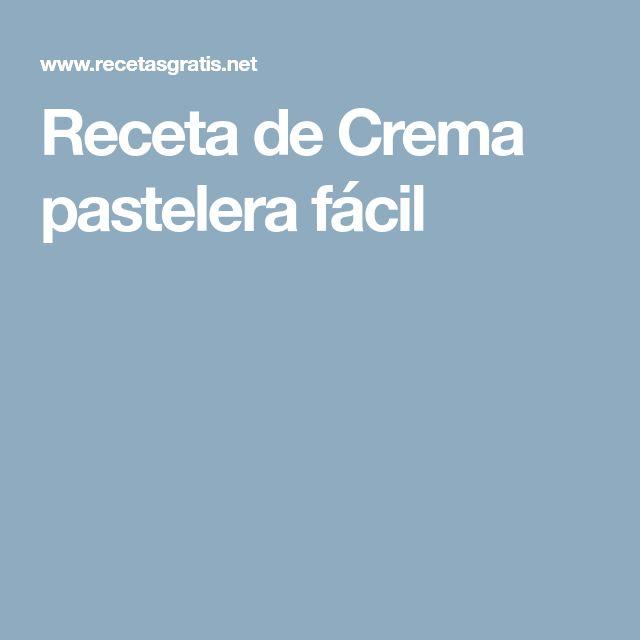 Receta de Crema pastelera fácil