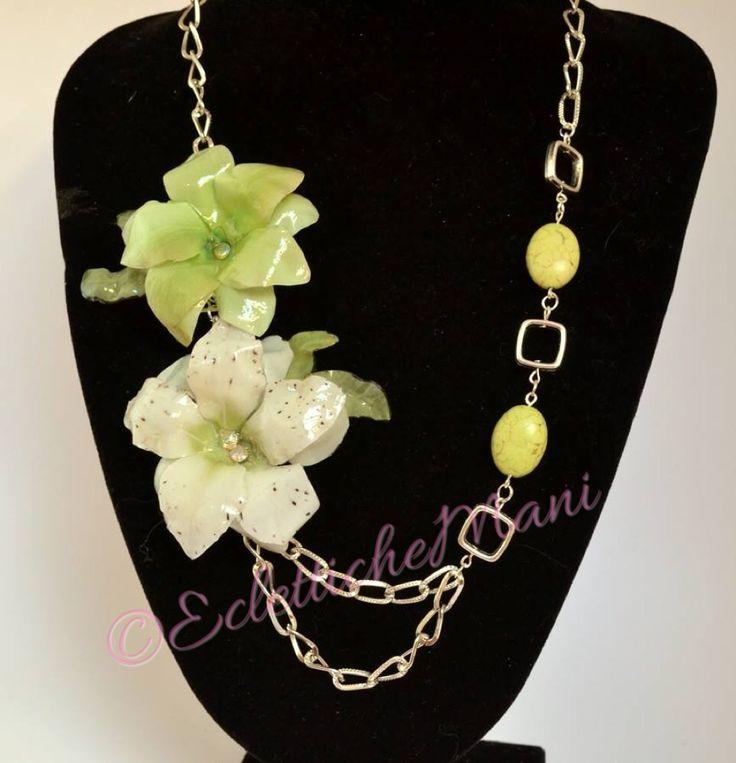 La collana verde Eclettichemani.blogspot.it Fb: eclettichemani