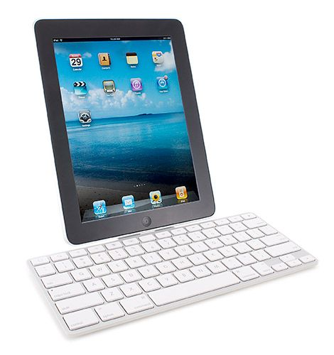 Forget about lugging that heavy laptop --  all you need is an iPad and this handy keyboard dock.