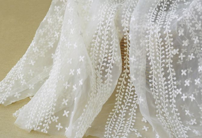Koronka tkaniny w 120cm szerokości - chicandeasy - Tkaniny koronkowe