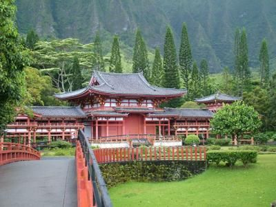 Byodo-in Temple, Oahu, Hawaii: Aloha, Favorite Places, Places Visited, Hawaii Places, Dream Destinations, Dream Vacations, Amazing Places, Bridge