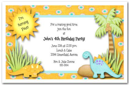 Kid's+love+dinosaurs!+Dinosaurs+Rule+Party+Invitation+is+perfect...