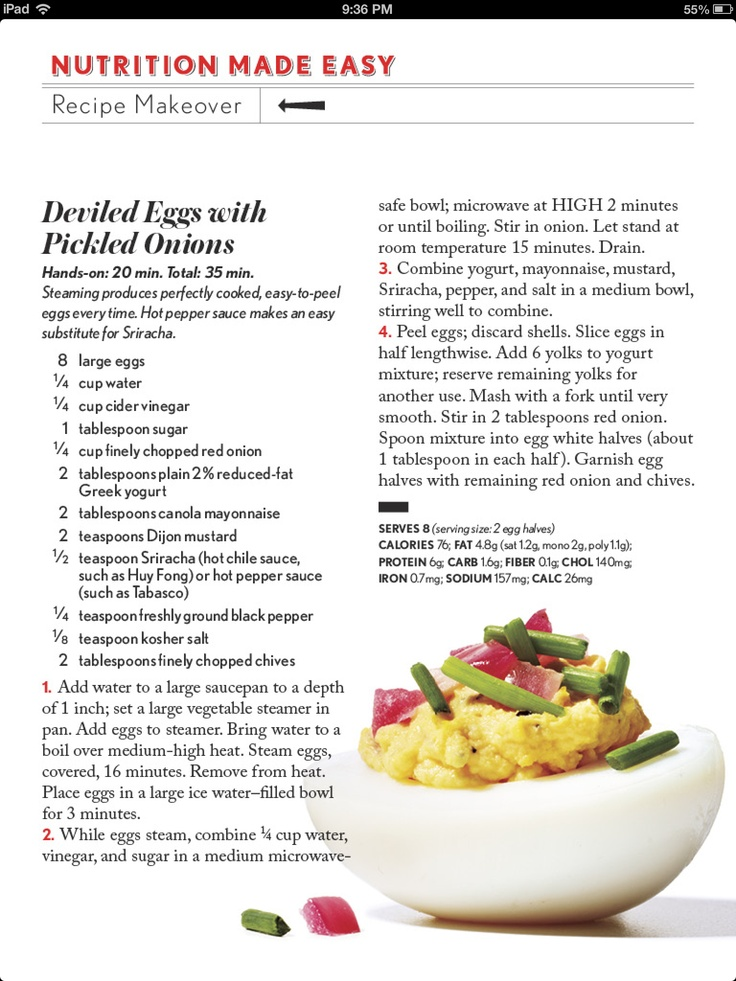 Deviled eggs healthy meals pinterest deviled eggs for Table 52 deviled eggs recipe