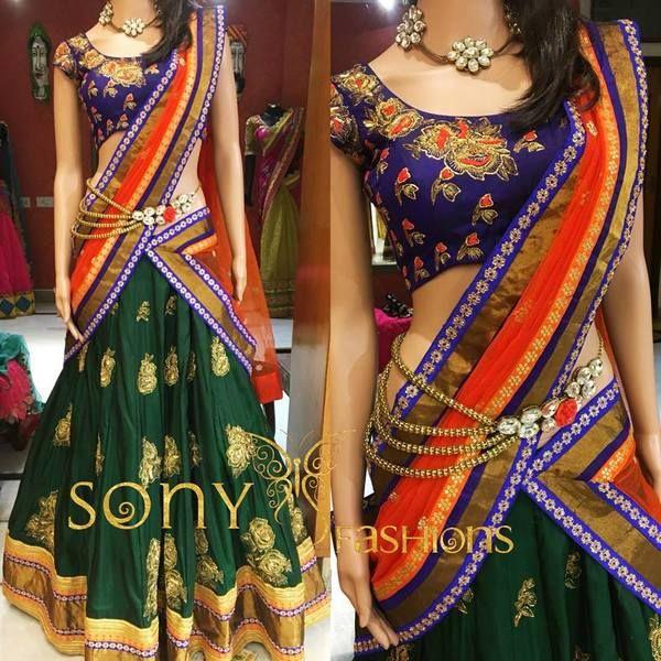 Pattu Half Saree by Sony Reddy