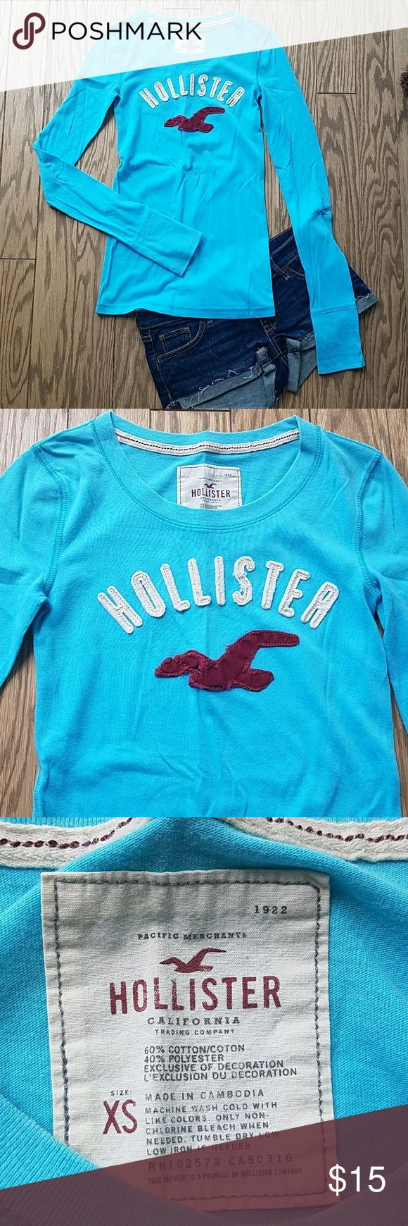 Hollister long sleeve Long sleeve Hollister shirt. New but no tags, never worn. Hollister Tops Tees - Long Sleeve