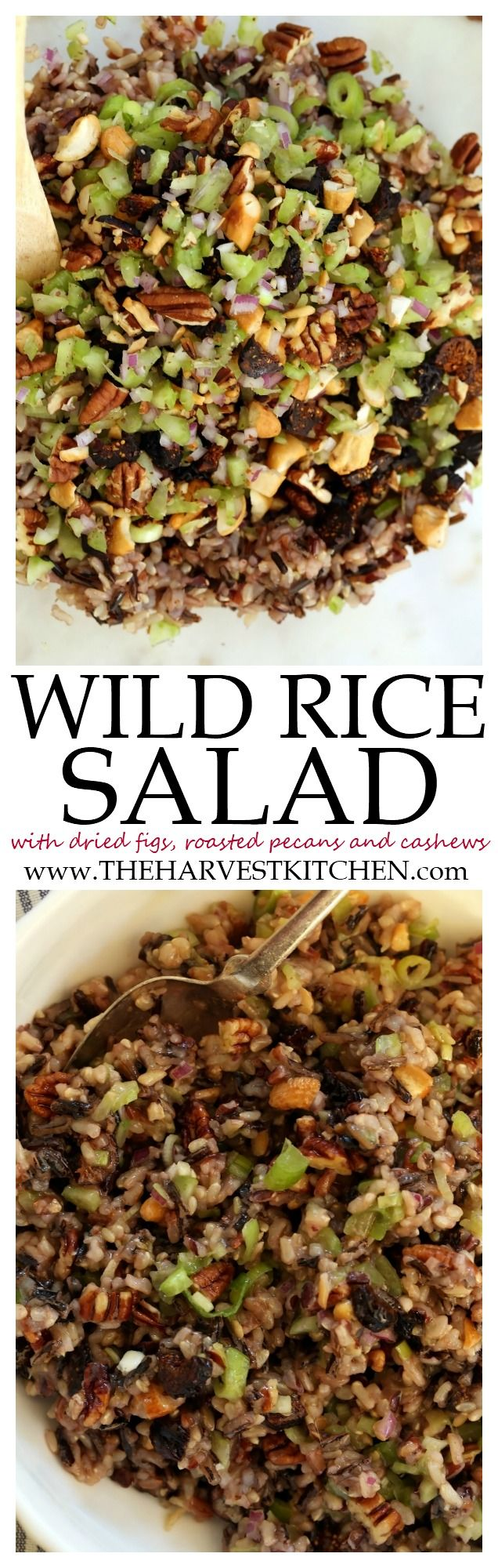 This simple Wild Rice Salad is a riff on Gulfstream's Wild Rice Salad recipe. It's got an incredible combo of flavors, and makes a great gluten-free side dish for the holidays or any night of the week. @theharvestkitchen.com