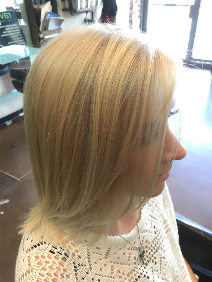 Not so white but still nice clean blonde 😃