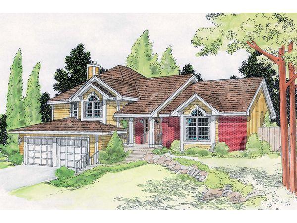 45 best images about split level exterior interior for Craftsman style split level homes
