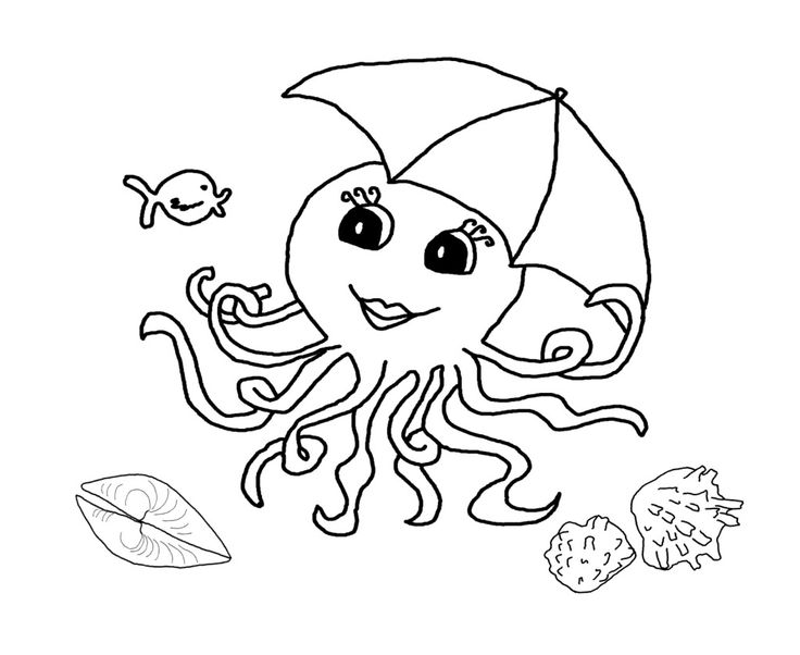 Free Octopus Printable Coloring Pages For Preschool