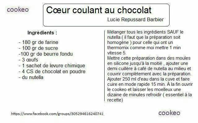 Coeur coulant au chocolat