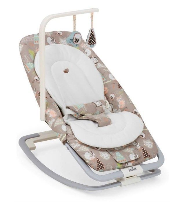 Joie Dreamer Baby Rocker Bouncer Hoot EXCELLENT CONDITION (box + manual) RRP £70