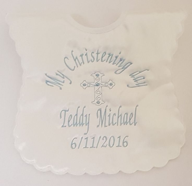 23 best personalised baby gifts images on pinterest babies nursery personalised christening baptism naming day bib baby boygirl gift white ivory negle Choice Image