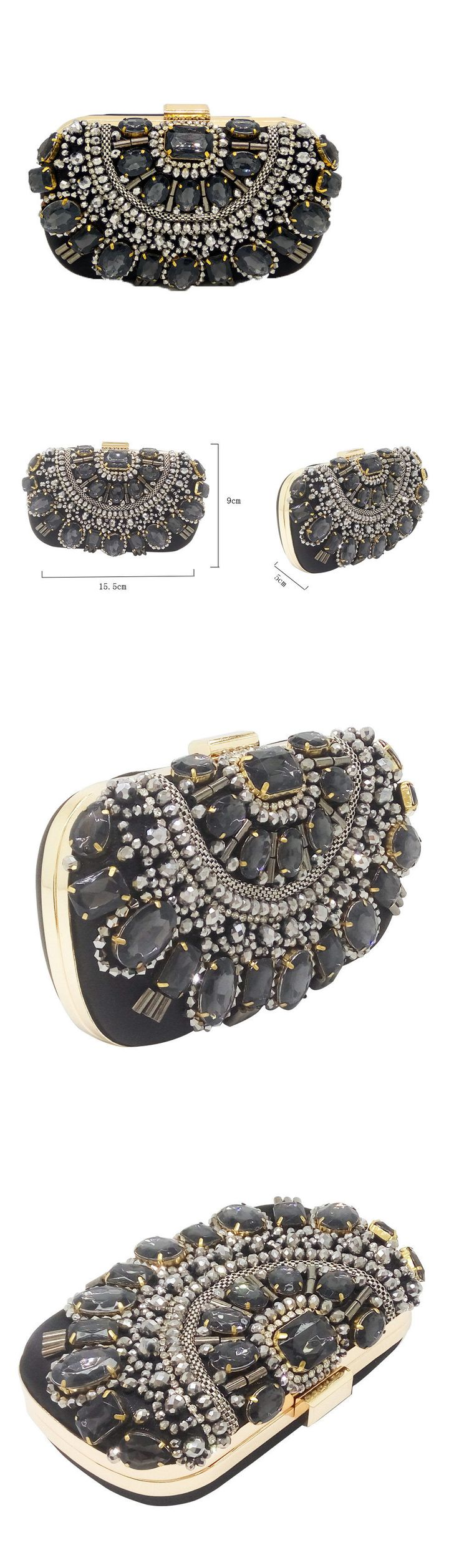 Bridal Handbags And Bags: Black Beaded Women Clutches Handbags And Purse Bridal Wedding Evening Clutch Bag -> BUY IT NOW ONLY: $19.99 on eBay!
