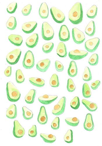 Avocados pattern design