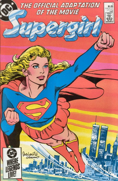 Supergirl Movie Special #1, 1985, cover by Jose Luis Garcia-Lopez and Dick Giordano