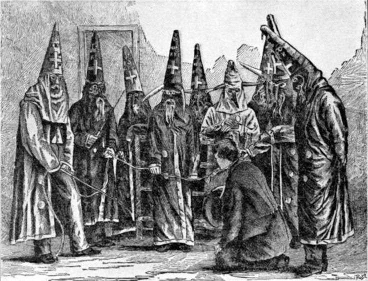 """On Decembe 24, 1866 the Ku Klux Klan was formed as a social club by a group of ex-Confederate sodiers in Pulaski TN. In the summer of 1867, local branches of the Klan met in a general organizing convention and established what they called an """"Invisible Empire of the South."""" Leading Confederate general Nathan Bedford Forrest was chosen as the first leader, or """"grand wizard,"""" of the Klan; he presided over a hierarchy of grand dragons, grand titans and grand cyclopses. #TodayInBlackHistory"""